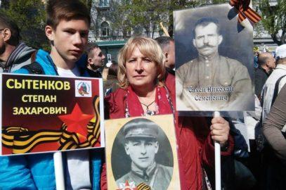 Юные следопыты Владивостокского городского Дворца детского творчества приняли участие в празднике Победы