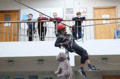 Соревнования среди школьников «Юный спасатель»